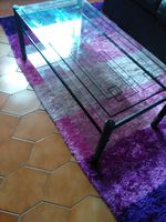 Mesa de centro em vidro foto 1