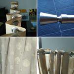 2 Varões em inox de 3,40m e 1,5m com cortina beje foto 1