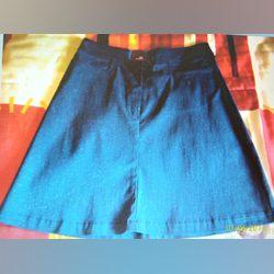 Minissaia azul com brilhantes TM 38 foto 1