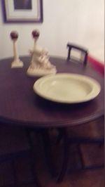 Mesa de jantar pe de galo e 4 cadeiras em palhinha foto 1