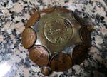 Cinzeiro feito 12 moedas antigas  moedas raras. foto 1