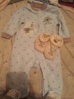 Conjunto de body e sapatinhos de bebe foto 1
