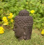 Cabeça-Buda de pedra importada da Indonésia foto 1
