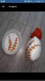 Quadro + ovo de Páscoa feito à mão foto 1