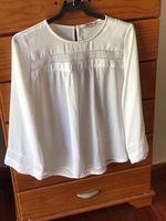 Blusa branco estilo Boho foto 1