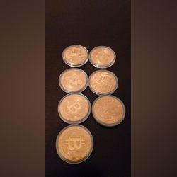 Moedas de cobre bitcoin. Colecionadores .30€ neg. foto 1