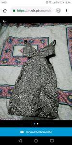 Vestido de brilhantes usado 1 vez. foto 1