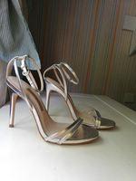 Sandálias prateadas Zara foto 1