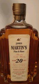 Garrafa de whisky James Martin com 20 anos foto 1