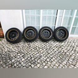 Jantes Ronal 4x100 R15 com pneus foto 1