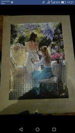 Puzzles 1500 peças feitos e colados foto 1