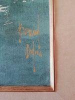 Óleo sobre tela de Bernard Dufour assinada de 1950. foto 1