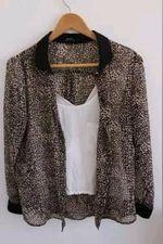 Camisa leopardo M Bershka foto 1