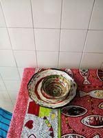 Vendo cestas decorativas feitas de papel foto 1