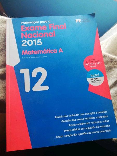 Livro de exames matemática 12 foto 1