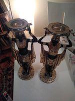 2 castiçais egípcios foto 1