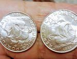 Muedas de 5 escudos de 1948 de caravela (novas) foto 1