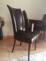 6 Cadeiras elegantes de pele natural foto 1