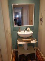Armário lavatório e espelho foto 1