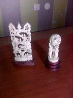 Peças decorativas em marfim foto 1