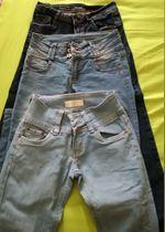 3 pares de calças de ganga, tamanho 34 foto 1
