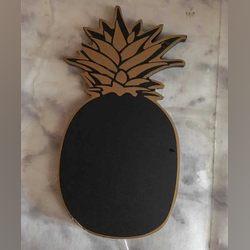 Quadro de ardósia em forma de ananás foto 1