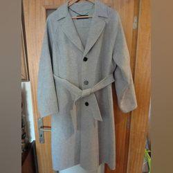 Casaco Sobretudo Zara Lã Cinzento XL Como Novo foto 1