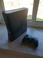 xbox 360 com jogo , comando e todos os cabos foto 1