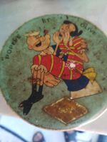 Caixa metal Antígua do Popeye e da olivia foto 1