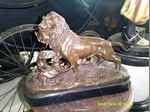 Um leao em bronze foto 1