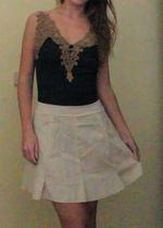 Vestido Bege e preto foto 1