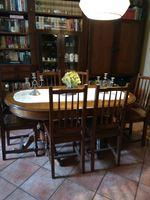 Mesa de sala pé de galo +6 cadeiras foto 1