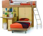 Beliche e um armário de criança foto 1