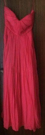 Vestido rosa comprido 100% seda foto 1