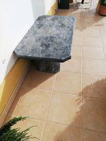 Mesa de centro ou de exterior. Toda em Mármore. foto 1