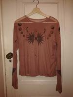 Blusa transparente com print (L) foto 1