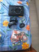 PS3 250GB + 2 controlos + 3 jogos foto 1