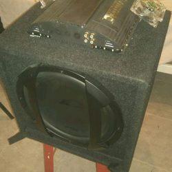 Vendo Ou troco Subwoofer + amplificador e cabos foto 1