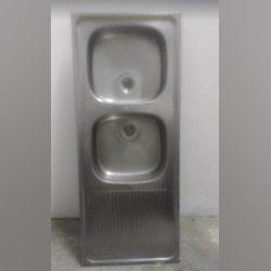 Lava louça inox com 2 cubas/pias foto 1