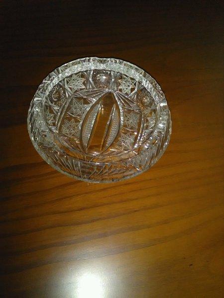 Cinzeiro em cristal. foto 1