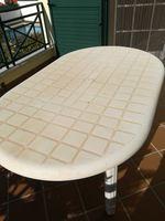Mesas de pvc-duas de cor branca foto 1