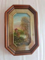 Conjunto de 3 quadros a oleo antigos pintado a mao foto 1