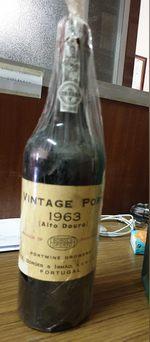Garrafa vinho do Porto vintage, 1963 foto 1
