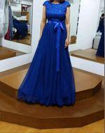 Vestido azul cerimônia foto 1
