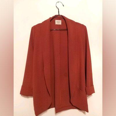 Casaco tipo blazer; cor de tijolo; tamanho S. foto 1