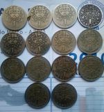 Muedas de 50 centavos antigas e de 1 escudo foto 1