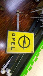 Reclamo luminoso vintage da Opel foto 1