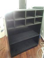 3 móveis de arrumação pintados a preto foto 1