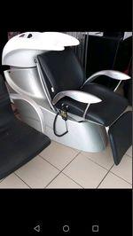 Cadeira d cabeleireiro d lavar cabeças com encosto foto 1