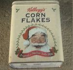 Lata kellogs, corn flakes antiga foto 1